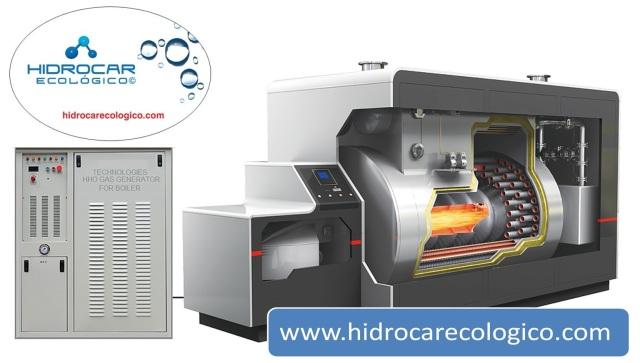 caldera industrial con hidrogeno